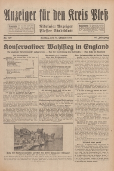 Anzeiger für den Kreis Pleß : Nikolaier Anzeiger : Plesser Stadtblatt. Jg.80, Nr. 130 (30 Oktober 1931)