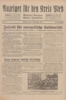 Anzeiger für den Kreis Pleß : Nikolaier Anzeiger : Plesser Stadtblatt. Jg.80, Nr. 131 (1 November 1931)