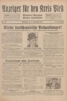 Anzeiger für den Kreis Pleß : Nikolaier Anzeiger : Plesser Stadtblatt. Jg.80, Nr. 132 (4 November 1931)