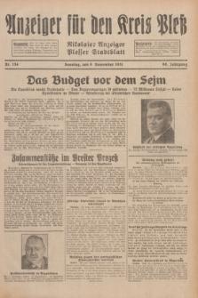 Anzeiger für den Kreis Pleß : Nikolaier Anzeiger : Plesser Stadtblatt. Jg.80, Nr. 134 (8 November 1931)
