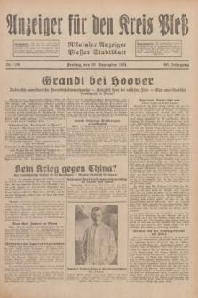 Anzeiger für den Kreis Pleß : Nikolaier Anzeiger : Plesser Stadtblatt. Jg.80, Nr. 139 (20 November 1931)