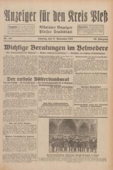 Anzeiger für den Kreis Pleß : Nikolaier Anzeiger : Plesser Stadtblatt. Jg.80, Nr. 140 (22 Oktober 1931)