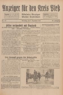 Anzeiger für den Kreis Pleß : Nikolaier Anzeiger : Plesser Stadtblatt. Jg.80, Nr. 147 (8 Dezember 1931)