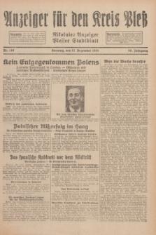 Anzeiger für den Kreis Pleß : Nikolaier Anzeiger : Plesser Stadtblatt. Jg.80, Nr. 149 (13 Dezember 1931)