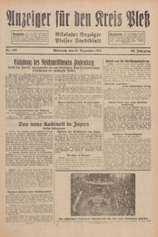 Anzeiger für den Kreis Pleß : Nikolaier Anzeiger : Plesser Stadtblatt. Jg.80, Nr. 150 (16 Dezember 1931)