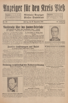 Anzeiger für den Kreis Pleß : Nikolaier Anzeiger : Plesser Stadtblatt. Jg.80, Nr. 151 (18 Dezember 1931)