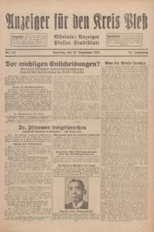 Anzeiger für den Kreis Pleß : Nikolaier Anzeiger : Plesser Stadtblatt. Jg.80, Nr. 152 (20 Dezember 1931)