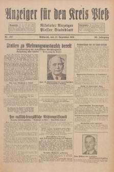 Anzeiger für den Kreis Pleß : Nikolaier Anzeiger : Plesser Stadtblatt. Jg.80, Nr. 153 (23 Dezember 1931)