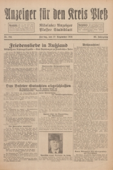 Anzeiger für den Kreis Pleß : Nikolaier Anzeiger : Plesser Stadtblatt. Jg.80, Nr. 154 (25 Dezember 1931)