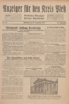 Anzeiger für den Kreis Pleß : Nikolaier Anzeiger : Plesser Stadtblatt. Jg.80, Nr. 155 (30 Dezember 1931)