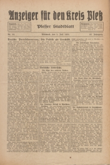 Anzeiger für den Kreis Pleß : Plesser Stadtblatt. Jg.82, Nr. 53 (5 Juli 1933)