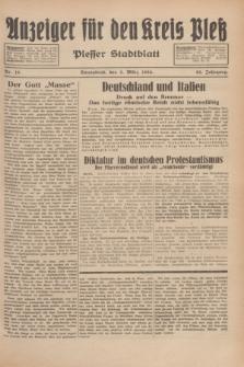 Anzeiger für den Kreis Pleß : Plesser Stadtblatt. Jg.83, Nr. 18 (3 März 1934)