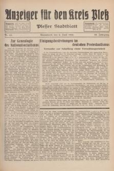 Anzeiger für den Kreis Pleß : Plesser Stadtblatt. Jg.83, Nr. 43 (2 Juni 1934)