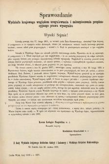 [Kadencja II, sesja II, al.5] Alegata do Sprawozdań Stenograficznych z Drugiej Sesji Drugiego Peryodu Sejmu Galicyjskiego z roku 1868. Alegat5