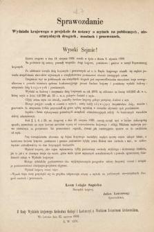 [Kadencja II, sesja II, al.7] Alegata do Sprawozdań Stenograficznych z Drugiej Sesji Drugiego Peryodu Sejmu Galicyjskiego z roku 1868. Alegat7