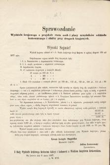 [Kadencja II, sesja II, al.8] Alegata do Sprawozdań Stenograficznych z Drugiej Sesji Drugiego Peryodu Sejmu Galicyjskiego z roku 1868. Alegat8