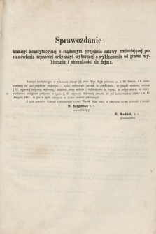 [Kadencja II, sesja II, al.14] Alegata do Sprawozdań Stenograficznych z Drugiej Sesji Drugiego Peryodu Sejmu Galicyjskiego z roku 1868. Alegat14