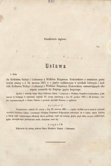 [Kadencja II, sesja II, al.17] Alegata do Sprawozdań Stenograficznych z Drugiej Sesji Drugiego Peryodu Sejmu Galicyjskiego z roku 1868. Alegat17
