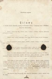[Kadencja II, sesja II, al.18] Alegata do Sprawozdań Stenograficznych z Drugiej Sesji Drugiego Peryodu Sejmu Galicyjskiego z roku 1868. Alegat18