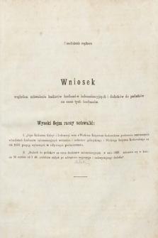 [Kadencja II, sesja II, al.27] Alegata do Sprawozdań Stenograficznych z Drugiej Sesji Drugiego Peryodu Sejmu Galicyjskiego z roku 1868. Alegat27