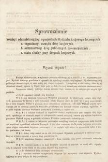 [Kadencja II, sesja II, al.35] Alegata do Sprawozdań Stenograficznych z Drugiej Sesji Drugiego Peryodu Sejmu Galicyjskiego z roku 1868. Alegat35
