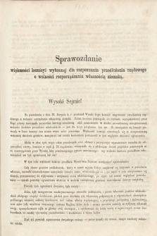 [Kadencja II, sesja II, al.36] Alegata do Sprawozdań Stenograficznych z Drugiej Sesji Drugiego Peryodu Sejmu Galicyjskiego z roku 1868. Alegat36