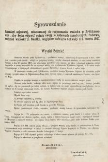 [Kadencja II, sesja II, al. 37b] Alegata do Sprawozdań Stenograficznych z Drugiej Sesji Drugiego Peryodu Sejmu Galicyjskiego z roku 1868. Alegat37b