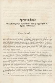 [Kadencja II, sesja II, al.38] Alegata do Sprawozdań Stenograficznych z Drugiej Sesji Drugiego Peryodu Sejmu Galicyjskiego z roku 1868. Alegat38