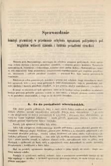 [Kadencja II, sesja II, al.40] Alegata do Sprawozdań Stenograficznych z Drugiej Sesji Drugiego Peryodu Sejmu Galicyjskiego z roku 1868. Alegat40