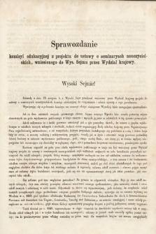 [Kadencja II, sesja II, al.42] Alegata do Sprawozdań Stenograficznych z Drugiej Sesji Drugiego Peryodu Sejmu Galicyjskiego z roku 1868. Alegat42