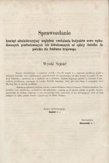 [Kadencja II, sesja II, al.43] Alegata do Sprawozdań Stenograficznych z Drugiej Sesji Drugiego Peryodu Sejmu Galicyjskiego z roku 1868. Alegat43