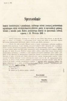 [Kadencja II, sesja II, al.44] Alegata do Sprawozdań Stenograficznych z Drugiej Sesji Drugiego Peryodu Sejmu Galicyjskiego z roku 1868. Alegat44