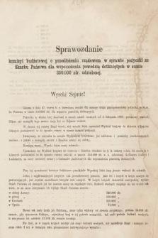[Kadencja II, sesja II, al.45] Alegata do Sprawozdań Stenograficznych z Drugiej Sesji Drugiego Peryodu Sejmu Galicyjskiego z roku 1868. Alegat45