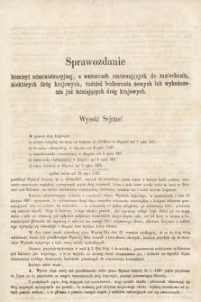 [Kadencja II, sesja II, al.48] Alegata do Sprawozdań Stenograficznych z Drugiej Sesji Drugiego Peryodu Sejmu Galicyjskiego z roku 1868. Alegat48