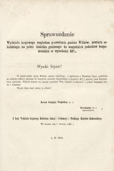 [Kadencja II, sesja II, al.51] Alegata do Sprawozdań Stenograficznych z Drugiej Sesji Drugiego Peryodu Sejmu Galicyjskiego z roku 1868. Alegat51