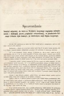 [Kadencja II, sesja II, al.52] Alegata do Sprawozdań Stenograficznych z Drugiej Sesji Drugiego Peryodu Sejmu Galicyjskiego z roku 1868. Alegat52