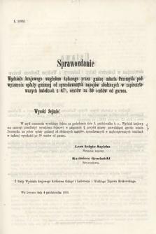 [Kadencja II, sesja II, al.54] Alegata do Sprawozdań Stenograficznych z Drugiej Sesji Drugiego Peryodu Sejmu Galicyjskiego z roku 1868. Alegat54