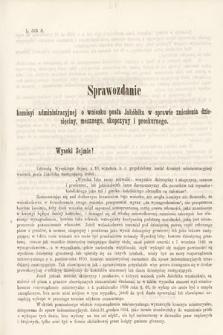 [Kadencja II, sesja II, al.55] Alegata do Sprawozdań Stenograficznych z Drugiej Sesji Drugiego Peryodu Sejmu Galicyjskiego z roku 1868. Alegat55