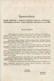 [Kadencja II, sesja II, al.57] Alegata do Sprawozdań Stenograficznych z Drugiej Sesji Drugiego Peryodu Sejmu Galicyjskiego z roku 1868. Alegat57