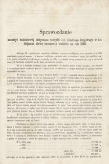 [Kadencja II, sesja II, al.58] Alegata do Sprawozdań Stenograficznych z Drugiej Sesji Drugiego Peryodu Sejmu Galicyjskiego z roku 1868. Alegat58