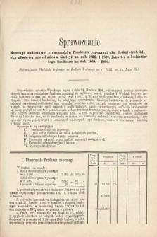 [Kadencja II, sesja II, al.62] Alegata do Sprawozdań Stenograficznych z Drugiej Sesji Drugiego Peryodu Sejmu Galicyjskiego z roku 1868. Alegat62