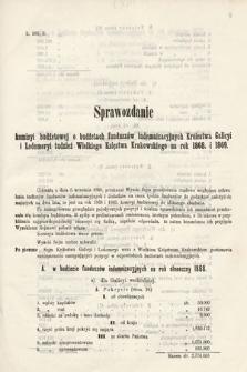 [Kadencja II, sesja II, al.63] Alegata do Sprawozdań Stenograficznych z Drugiej Sesji Drugiego Peryodu Sejmu Galicyjskiego z roku 1868. Alegat63