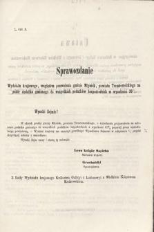 [Kadencja II, sesja II, al.67] Alegata do Sprawozdań Stenograficznych z Drugiej Sesji Drugiego Peryodu Sejmu Galicyjskiego z roku 1868. Alegat67