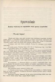 [Kadencja II, sesja II, al.68] Alegata do Sprawozdań Stenograficznych z Drugiej Sesji Drugiego Peryodu Sejmu Galicyjskiego z roku 1868. Alegat68