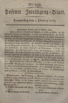 Posener Intelligenz-Blatt. 1832, Nro. 238 (4 Oktober)