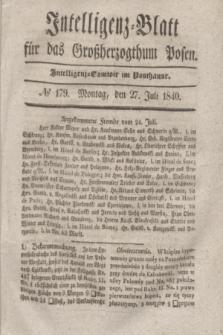 Intelligenz-Blatt für das Großherzogthum Posen. 1840, № 179 (27 Juli) + dod.