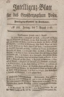 Intelligenz-Blatt für das Großherzogthum Posen. 1840, № 189 (7 August)