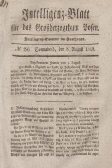Intelligenz-Blatt für das Großherzogthum Posen. 1840, № 190 (8 August)