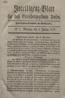 Intelligenz-Blatt für das Großherzogthum Posen. 1841, № 3 (4 Januar)
