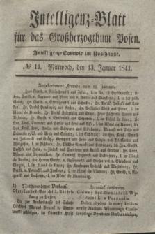 Intelligenz-Blatt für das Großherzogthum Posen. 1841, № 11 (13 Januar)